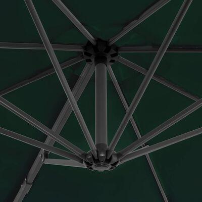 vidaXL zöld kültéri napernyő hordozható talppal
