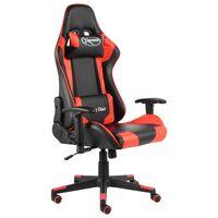 vidaXL piros PVC forgó gamer szék