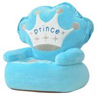 """vidaXL kék plüss gyerekszék """"prince"""" felirattal"""