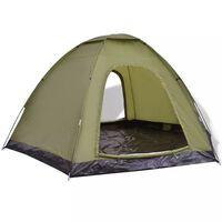 vidaXL 6 személyes zöld sátor