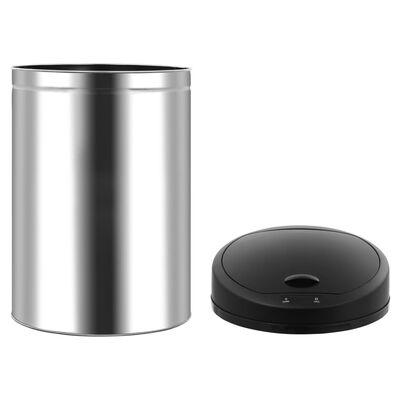 vidaXL automata érzékelős rozsdamentes acél szemeteskuka 42 L