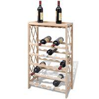 vidaXL tömör fenyőfa bortartó állvány 25 palackhoz