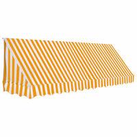 vidaXL narancssárga és fehér bisztró napellenző 350 x 120 cm