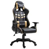 vidaXL aranyszínű műbőr gamer szék