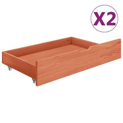vidaXL 2 fiókos tömör fenyőfa baldachinos ágykeret 90 x 200 cm