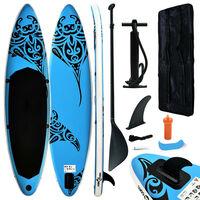 vidaXL kék felfújható állószörfszett 305 x 76 x 15 cm