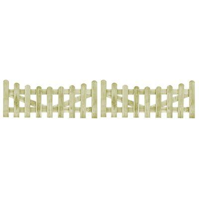 vidaXL 2 db kertkapu impregnált fenyőfalécekből 150 x 60 cm