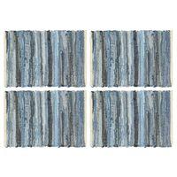 vidaXL 4 db farmerkék pamut chindi tányéralátét 30 x 45 cm