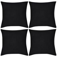 4 db pamut párnahuzat 80 x 80 cm fekete