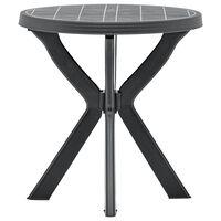 vidaXL antracitszürke műanyag bisztróasztal Ø70 cm