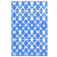 vidaXL kék-fehér PP kültéri szőnyeg 190 x 290 cm