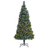 vidaXL zöld PET műkarácsonyfa LED-fényekkel és talppal 120 cm