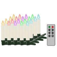 vidaXL 20 db karácsonyi vezeték nélküli RGB LED gyertya távirányítóval
