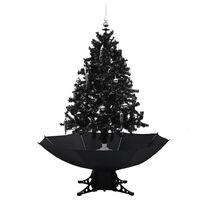 vidaXL fekete PVC havazó karácsonyfa ernyő alakú talppal 140 cm