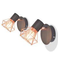 vidaXL falilámpa 2 db 8 W-os LED izzós villanykörtével