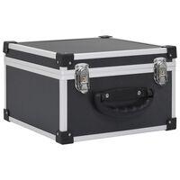 vidaXL 40 db-os fekete alumínium és ABS CD-tartó