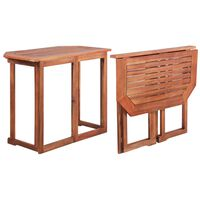 vidaXL tömör akácfa bisztró asztal 90 x 50 x 75 cm