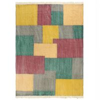 vidaXL többszínű nyomtatott kéziszövésű kilim pamutszőnyeg 160x230 cm