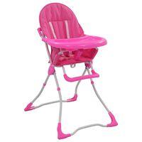 vidaXL rózsaszín és fehér babaetetőszék
