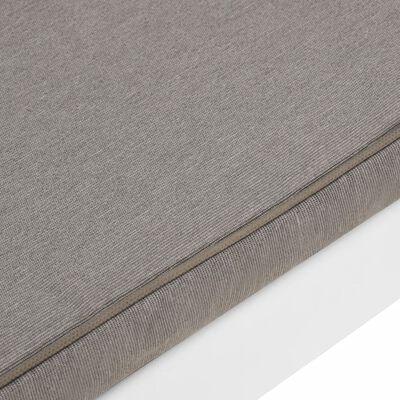 vidaXL 2 db fehér műanyag kerti pihenőpad párnákkal