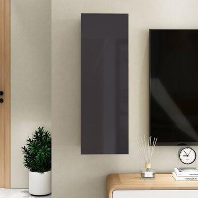 vidaXL magasfényű szürke forgácslap TV-szekrény 30,5 x 30 x 90 cm