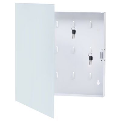 vidaXL fehér kulcsszekrény mágneses lappal 35 x 35 x 5,5 cm