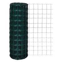 vidaXL Euro Fence zöld acélkerítés 25 x 1,7 m