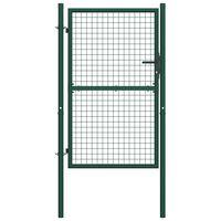 vidaXL zöld acél kerítéskapu 100 x 175 cm