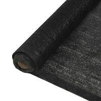 vidaXL belátásgátló háló, HDPE, 1,5 x 50 m, fekete
