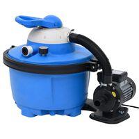 vidaXL kék-fekete homokszűrős szivattyú 385 x 620 x 432 mm 200 W 25 L