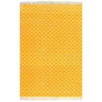 vidaXL citromsárga mintás kilim pamutszőnyeg 160 x 230 cm