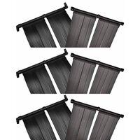 vidaXL 6 db napelemes medencefűtő panel 80 x 620 cm