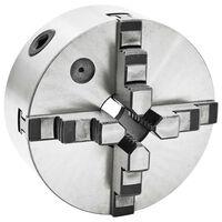 vidaXL 4 szorítópofás önközpontosító acél esztergatokmány 160 mm