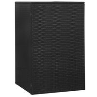 vidaXL fekete polyrattan gurítható kukatároló 1 db kukához 76x78x120cm