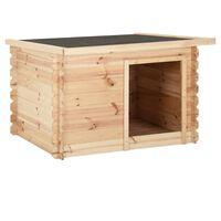 vidaXL tömör fenyőfa kutyaház 150 x 120 x 80 cm 14 mm