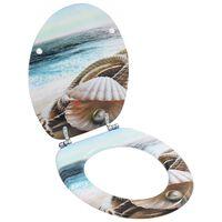 vidaXL kagylómintás MDF WC ülőke