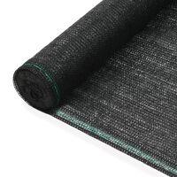 vidaXL fekete HDPE teniszháló 1,4 x 100 m