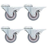 vidaXL 8 darab hátfuratos önbeálló görgő 50 mm