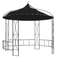 vidaXL antracitszürke kerek pavilon 300 x 290 cm