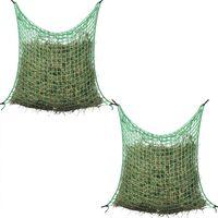 vidaXL 2 db négyzet alakú polipropilén széna háló 0,9x1,5 m