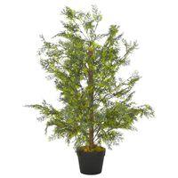vidaXL zöld, cserepes műciprusfa 90 cm