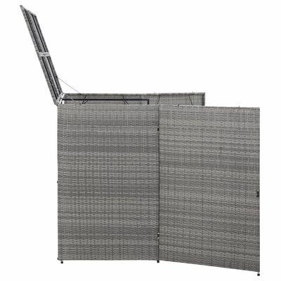 vidaXL antracitszürke polyrattan kukatároló 2 db kukához 153x78x120 cm