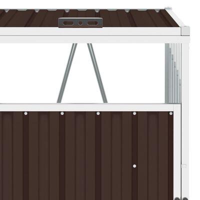 vidaXL barna acél kukatároló 3 db kukához 213 x 81 x 121 cm