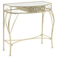 vidaXL francia stílusú aranyszínű fém kisasztal 82 x 39 x 76 cm