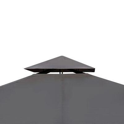vidaXL sötétszürke pavilon tetővel 3 x 4 m