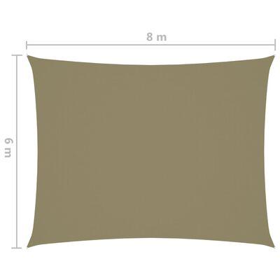 vidaXL bézs téglalap alakú oxford-szövet napvitorla 6 x 8 m
