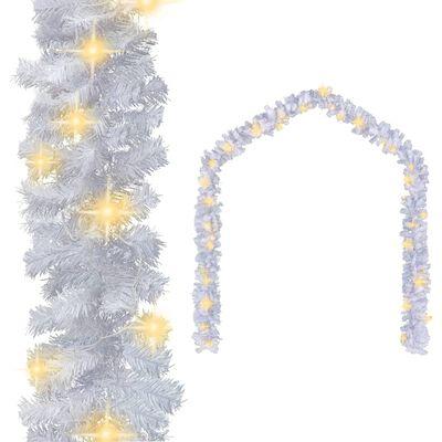vidaXL fehér karácsonyi füzér LED-es izzókkal 20 m
