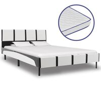 vidaXL műbőr ágy memóriahabos matraccal 140 x 200 cm