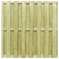 vidaXL zöld fenyőfa hit & miss stílusú kerítéspanel 180 x 180 cm