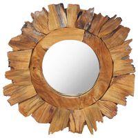 vidaXL kör alakú tíkfa falitükör 40 cm